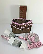 Avon Ladies Gardening Gift Tool Set Trowel Fork Gloves Bag