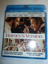 Barney's Version Blu-ray & DVD 2-Disc Set comedy drama movie Dustin Hoffman NEW!