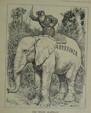 "7x10 ""Punch Cartoon 1938 El Elefante Blanco Gayda / Abisinia"