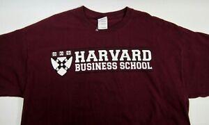 NWOT Harvard Business School Gildan Logo Shirt XL Burgundy University Ivy League