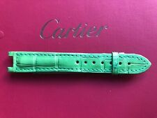 GENUINE CARTIER PASHA WATCH STRAP  Green ALLIGATOR LEATHER 15 x 14 mm