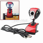 USB 50M 6 LED Night Vision Webcam Camera Web Cam w/ Mic Clip for PC Laptop Skype