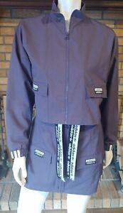 Adidas 2 Piece Purple Logo Skirt/Jacket Set Size Small