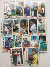 1984 Topps Baseball Card Commons. Pick 30 to Complete Your Set.