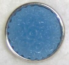 BLUE ROSE Resin Snap Chunk 18-20mm Interchangeable Jewelry Fits Ginger Snaps