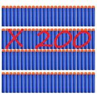 200 Pcs Balles pour NERF recharge pour pistolet Jouet enfant de tir 3 couleurs
