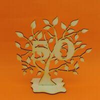 Jubiläums Baum 50 Geburtstag, aus Holz 16 cm Lebensbaum Geschenk Hochzeit