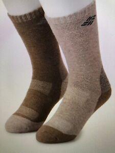Men's COLUMBIA Wool 2pk Crew ~ Tan/Brown ~ Shoe Size 6-12