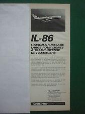 6/83 PUB AVIAEXPORT URSS MOSCOU CCCP IL-86 AEROFLOT SOVIET AIRLINES FRENCH AD