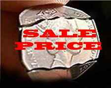 DYNAMO  MAGICIAN IMPOSSIBLE - DOUBLE FOLDING 50P COIN IN BOTTLE BITTEN COIN