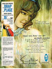 PUBLICITE ADVERTISING   1962   KOTEX  hygiène féminine