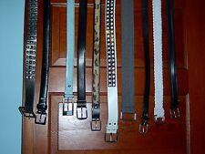 """USED -LOT OF 10 BELTS-STACY ADAMS, HOT TOPIC, NO BOUNDARIES,ETC.- SIZES-32""""-46"""""""