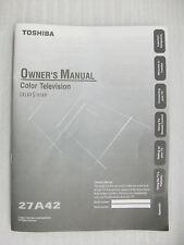 Original User Manual for Toshiba 27A42 (New)