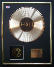 HIM LOVE METAL CD GOLD DISC RECORD LP DISPLAY FREE P&P!