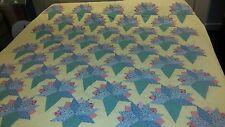 Vtg 70s YELLOW Handmade  Quilt ~ H U G E  83 x 84 inches queen