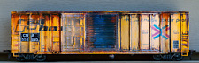 HO Scale Rail Box Boxcar Patched Weathered  RBPW87