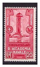 REGNO 1931 - ACCADEMIA NAVALE LIVORNO    Cent. 20 NUOVO **