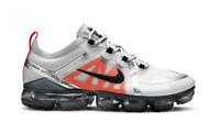 Men's Nike Air VaporMax 2019 Pure Platinum Orange Shoes AR6631-003 Size 14