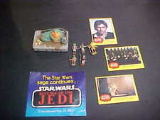 1977 CARDS HAN SOLO MINATURE JABBA AND OTHER PAPERWORK