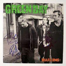 Green Day REAL hand SIGNED Warning Vinyl LP JSA Full LOA Autographed Billie Joe