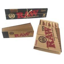 Zigarettenpapier RAW Slim Classic Black + RAW Tips + Pre Rolled Tips Starter Set
