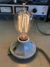 Antique Working Westinghouse MAZDA Hand Blown Cage Filament Light Bulb #2
