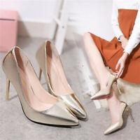 Danita Womens Stilettos High Heels Pointed Toe Court Shoes Ladies Pumps Size New