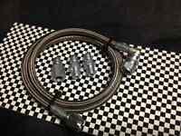 """# - 4 Steel Braided Pressure Gauge Line Kit For Oil Water Fuel Gauges 36"""" Inch"""