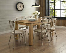 7 Piece Dining Room Table Set Rustic Farmhouse Kitchen Tables And Chairs Sets