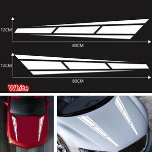 2PCS Racing Sport Stripe Vinyl Decals Graphics Stickers Fit For Car Truck Bonnet