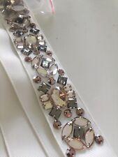 NEW W/ Tags, Dressbarn RSVP Rhinestone Embellished Tie Belt. L/XL MSRP 28.00