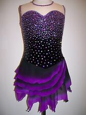 CUSTOM MADE ICE SKATING BATON TWIRLING DANCE DRESS COSTUME