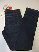 Lucky Brand Ws 2/26 Ankle  Sofia Super Stretch Straight Jean 7WD1745 Dk Blue