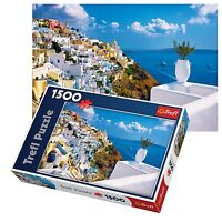 Trefl 1500 Piece Adult Large Santorini Greece View Sea Sun Floor Jigsaw Puzzle