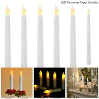 6pcs LED Flameless Taper Candles Lights Flickering Battery Operated Party Decor