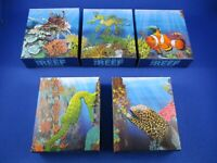 2009 - 2010 Australian Sea Life -The Reef - 5 Silver Proof Coin Set GOOD QUALITY