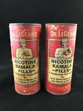 Antique Veterinary Dr LeGear's Nicotine Kamala Pills Full Set of 2