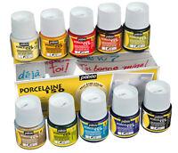 Pebeo Porcelaine 150 Permanent Ceramic Paint Assorted Colours 10 x 45ml Box Set