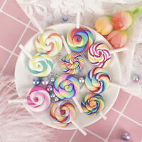 10PCS Soft Lollipops Charms Pendants Resin DIY Decoration Earrings Neckla NTDD