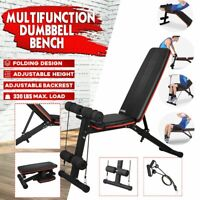 Adjustable Dumbbell Weight Bench Incline Decline Foldable Workout Full Body Gym