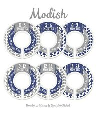 New listing Modish Baby Nursery Closet Dividers Navy Blue Gray Tribal 6 Lbb76