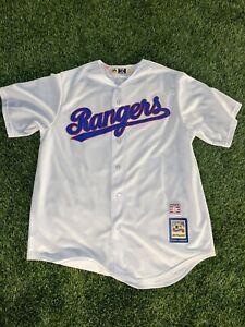 Throwback Nolan Ryan Texas Rangers #34 White Replica Mens L Baseball Jersey