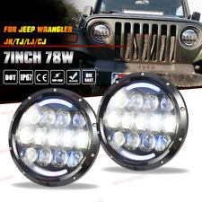 "2X 7"" Round LED Projector Headlights w/ DRL For Jeep Wrangler JK TJ CJ LJ JKU"