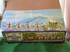 CRESCENT TOYS #1301 THE ROYAL STATE COACH , SILVER JUBILEE 1977 EXCEELENT BOXED