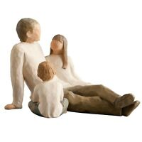 Willow Tree Father with Daughter & Son  Figurine Gift Set Family Group