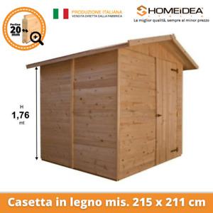 Casetta in legno mis 215 x 211 cm con perline da 20 mm casetta porta attrezzi