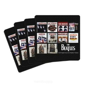 "The Beatles ""United States Albums"" Neoprene Coasters 4-Pack Boelter Brands NEW"