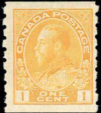 Mint NH Canada 1c 1923 F-VF Scott #126 Coil King George V Admiral Stamp