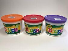 Crayola Super Soft Dough 3 lb Bucket in Orange, Red and Purple, New