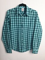 Scotch And Soda Men's Check Green Long Sleeve Soft Shirt Size Medium